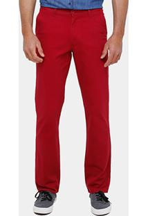 Calça Slim Blue Bay Sarja Color Masculina - Masculino