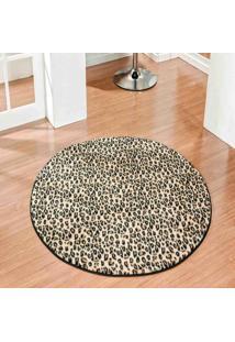 Tapete Dourados Enxovais Safari Redondo 1,10X1,10 Leopardo