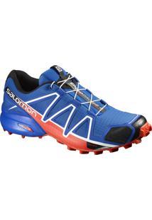 Tênis Speedcross 4 Masculino Azul/Laranja 39 - Salomon