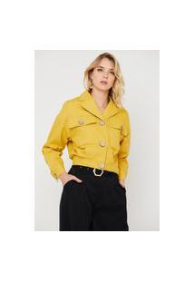 Jaqueta Crorela Sarja Amarelo Mostarda