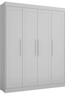 Guarda Roupa Infantil Multimóveis Moka 4 Portas Branco Premium