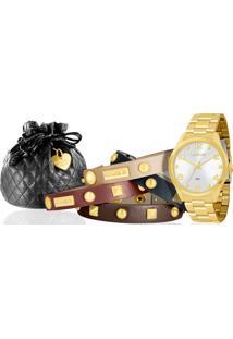 Kit Relógio Feminino Lince Lrg4215L K032S2Kx
