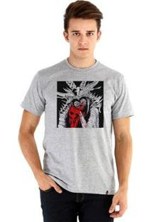 Camiseta Ouroboros Manga Curta Mom - Masculino-Cinza