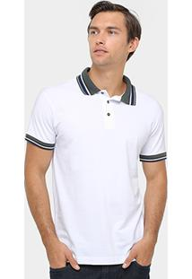 Camisa Polo Colcci Piquet Frisos Contraste Masculino - Masculino