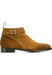 Doucal'S Buckled Strap Ankle Boots - Marrom