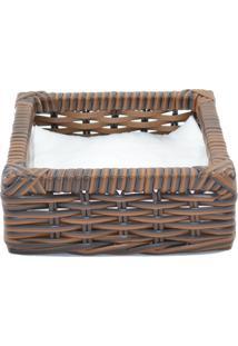 Porta Guardanapo Tradicional Fibra Sintética - Argila