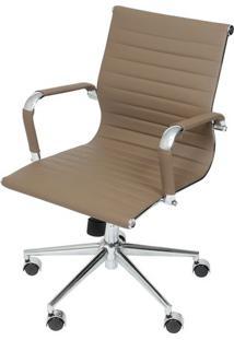 Cadeira Office Eames Esteirinha- Fendi & Prateada- 1Or Design