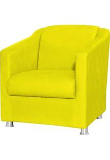 Poltrona Decorativa Laura Suede Amarelo - Lyam Decor