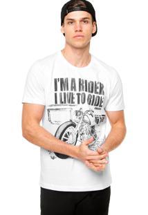 Camiseta Manga Curta Colcci Rider Branca
