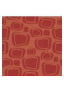 Papel De Parede Adesivo - Retrô Vermelho 3 Rolo 0,58X3M