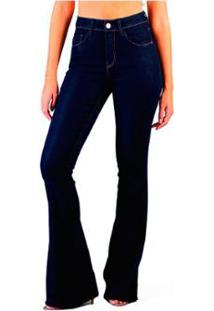 4217968b0 ... Calça Flare Multi Ponto Denim Cintura Intermediária - Feminino-Jeans