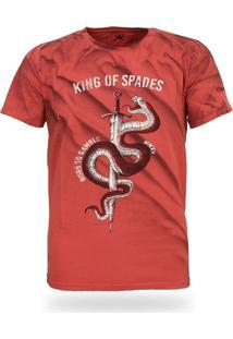 Camiseta Royal Brand King Of Spades Vermelho