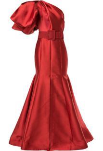 Solace London Vestido De Festa Adela Ombro Único - Vermelho