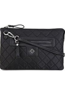 Bolsa Capodarte Shoulder Bag Matelassê Feminina - Feminino-Preto