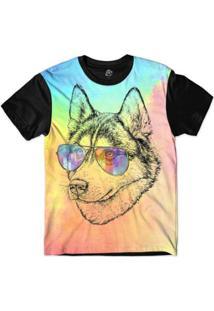 Camiseta Bsc Animais Hipster Husky Masculina - Masculino