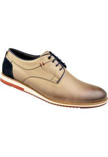 Sapato Casual Constantino Masculino - Masculino-Bege+Azul