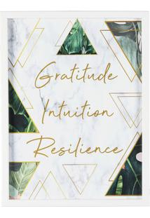 "Quadro Decorativo ""Gratitude, Intuition, Resilience""- Brart Frame"