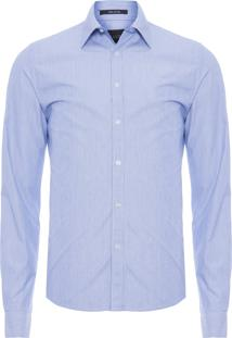 Camisa Masculina Thin Striped New Fit - Azul