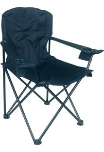 Cadeira Pandera Dobrável Preta Nautika
