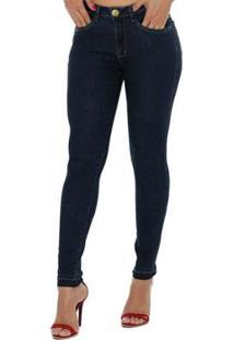 03b118f30 ... Calça Jeans Denuncia New Skinny Feminina - Feminino-Azul Escuro