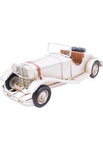 Enfeite Metal Minas De Presentes Carro Conversível Branco
