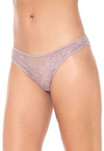 Calcinha Calvin Klein Underwear Tanga Renda Rosa