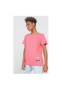 Camiseta Colcci Tag Rosa
