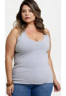 Regata Feminina Nadador Básica Plus Size Marisa