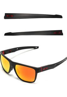 Óculos De Sol Oakley Crossrange Xl Preto/Laranja