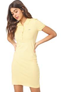Vestido Polo Lacoste Curto Logo Amarelo - Kanui