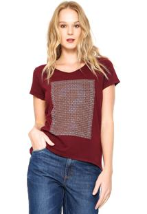 Camiseta Guess Original Vinho