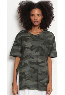 Camiseta Camuflada-Verde Escuro & Verdeosklen