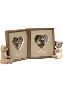 Porta-Retratos De Resina Decorativo Lovely Bears
