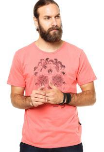 Camiseta Manga Curta Cavalera Caveira Rosa