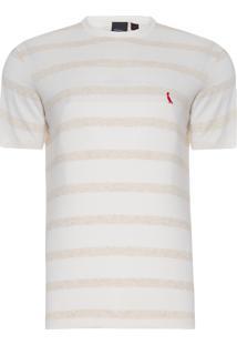 Camiseta Masculina Linho Joa - Off White