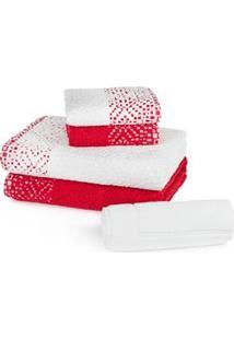 Jogo De Toalha Banhão Para Banho Karsten Mizque Em Algodão E Poliéster - 5 Peças