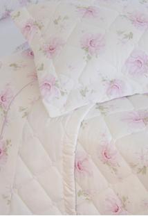 Colcha Com Porta Travesseiro Matelada 300 Fios Alice - Scavone