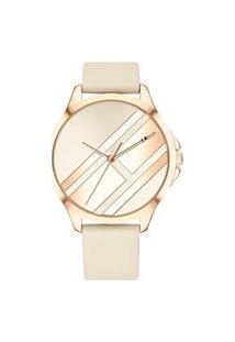 Relógio Tommy Hilfiger Feminino Couro Bege - 1781966