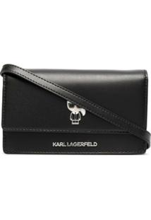 Karl Lagerfeld Bolsa Transversal K/Ikonik - Preto