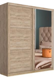 Guarda Roupa Casal Com Espelho Prático 2 Pt 2 Gv Cedro