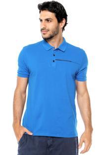 Camisa Polo Calvin Klein Jeans Logo Azul