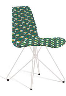 Cadeira Eames Base Aço Carbono Daf Colorido Verde