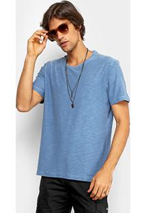 Camiseta Redley Básica Flamê Masculina - Masculino-Azul Claro
