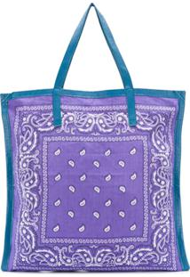 Arizona Love Bolsa Tote Com Estampa Paisley - Roxo