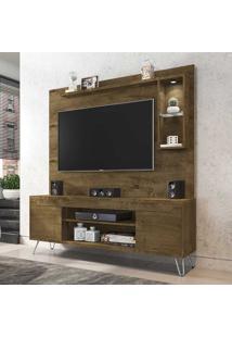 Estante Para Tv Até 52 Polegadas 2 Portas 4 Prateleiras Gabbana 2075348 Rústico - Bechara Móveis