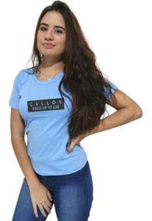 Camiseta Cellos To Life Premium Feminina - Feminino-Azul Claro