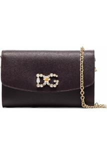Dolce & Gabbana Clutch Com Aplicação De Cristais - Roxo