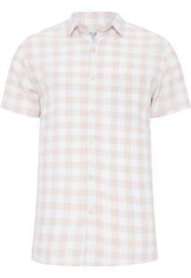 Camisa Masculina Linho Porto - Bege