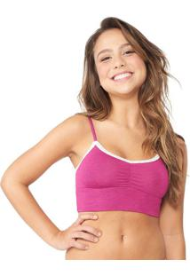 Sutiã Top Cropped Renda Pink Capricho | 561.011