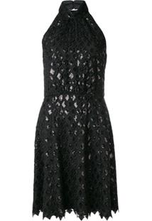Emporio Armani Vestido Macramé - Preto